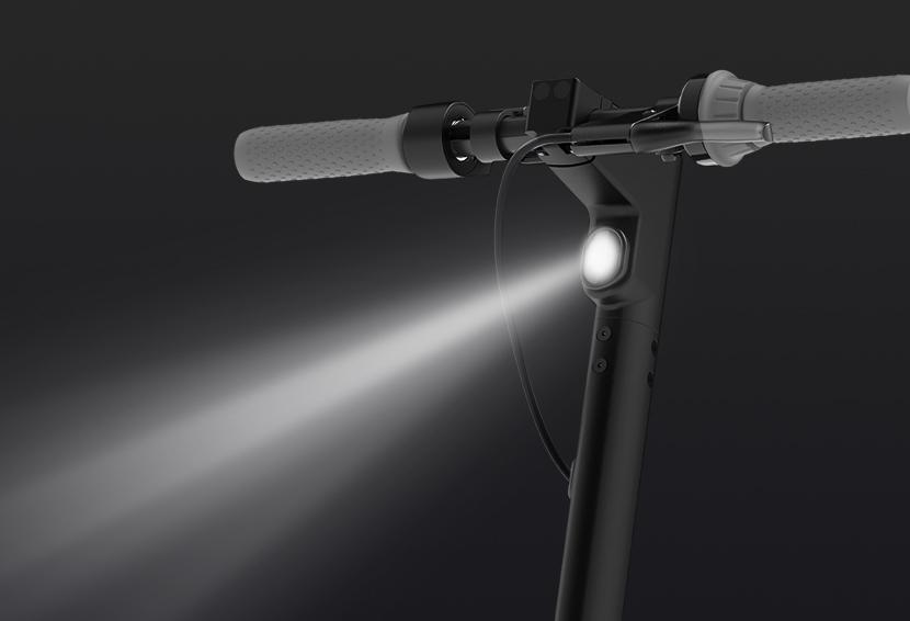 Monopatín eléctrico KickScooter MAX G30LP Luz delantera de led