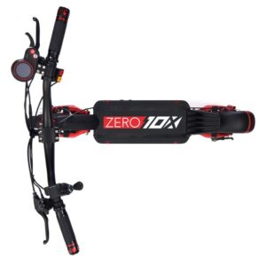ZERO 10X - Vista superior del monopatin electrico